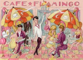 Cafe Flamingo gratis Poster