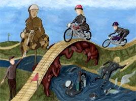 Motorcycling 1 - Frauen fahren Motorrad - gezeichnete Parodie - Poster