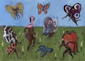 butterfly's meadow, gratis poster jpg