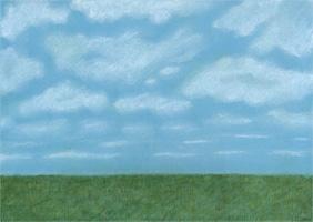 Wiese und Himmel - Hintergrundbild