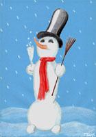 Muñeco de nieve 4, gif clipart libres download