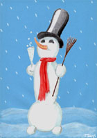 Muñeco de nieve 4 dibujo