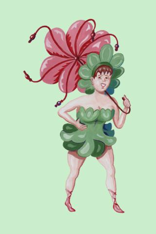 Wallpaper Frühlingsfee 2, Vorschaubild/Preview JPG 320x480 Pixel, grüner Hintergrund