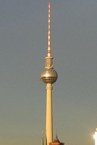 Wallpaper Berliner Fernsehturm, Vorschaubild/Preview JPG 320x480 Pixel