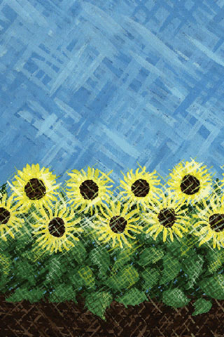 Wallpaper sunflowers, Vorschaubild/Preview JPG 320x480 Pixel