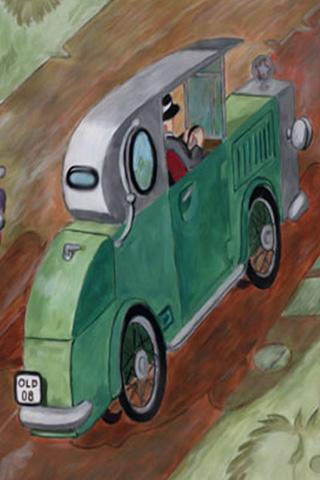 Wallpaper Car Poster 2, Vorschaubild/Preview JPG 320x480 Pixel, grüner Hintergrund