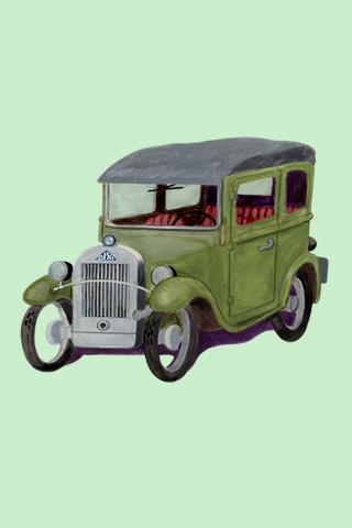 Wallpaper Dixi 1929, Vorschaubild/Preview JPG 320x480 Pixel, grüner Hintergrund