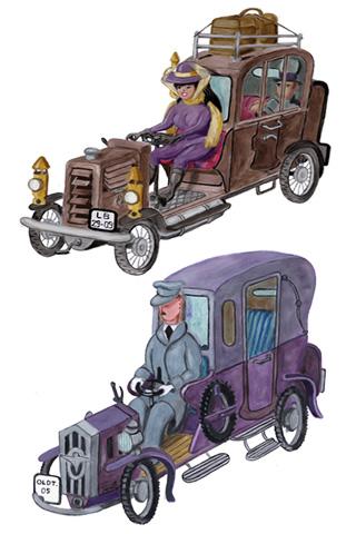 Wallpaper Old Car 2, Vorschaubild/Preview JPG 320x480 Pixel, weisser Hintergrund