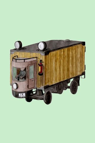 Wallpaper old truck 1, Vorschaubild/Preview JPG 320x480 Pixel, grüner Hintergrund