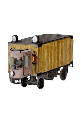 Wallpaper old truck 1, Vorschaubild/Preview JPG 320x480 Pixel, weisser Hintergrund