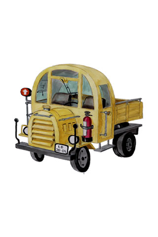 Wallpaper old truck 2, Vorschaubild/Preview JPG 320x480 Pixel, weisser Hintergrund