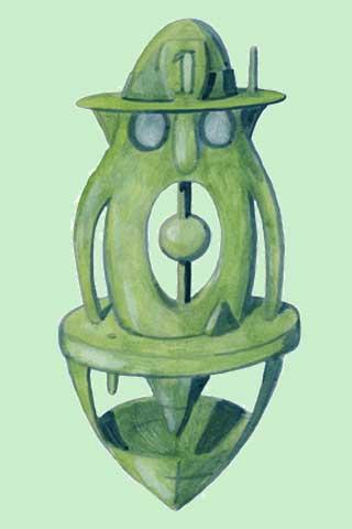 Wallpaper Kunstfigur 3, Vorschaubild/Preview JPG 320x480 Pixel, grüner Hintergrund
