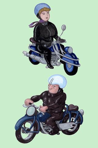 Wallpaper Motorcycling 2, Vorschaubild/Preview JPG 320x480 Pixel, grüner Hintergrund