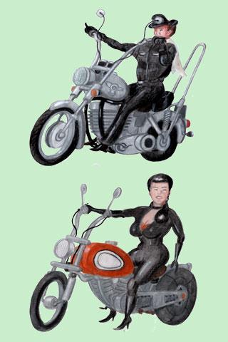 Wallpaper Motorcycling 3, Vorschaubild/Preview JPG 320x480 Pixel, grüner Hintergrund