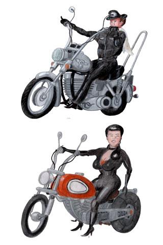 Wallpaper Motorcycling 3, Vorschaubild/Preview JPG 320x480 Pixel, weisser Hintergrund