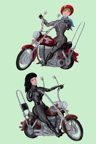 Wallpaper Motorcycling 4, Vorschaubild/Preview JPG 320x480 Pixel, grüner Hintergrund