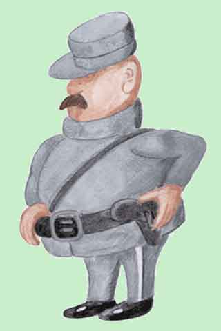 Wallpaper Polizist, Vorschaubild/Preview JPG 320x480 Pixel, grüner Hintergrund