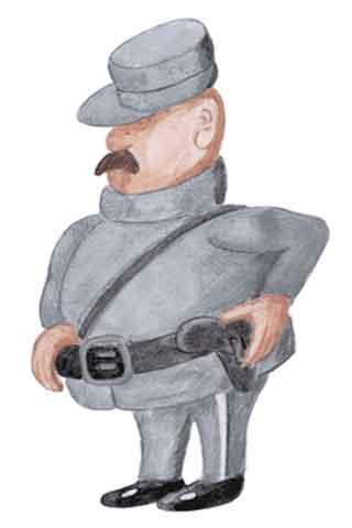 Wallpaper Polizist, Vorschaubild/Preview JPG 320x480 Pixel, weisser Hintergrund