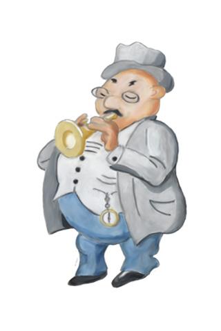Wallpaper Trompeter, Vorschaubild/Preview JPG 320x480 Pixel, weisser Hintergrund