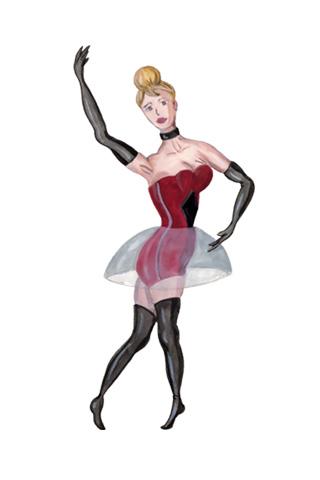 Wallpaper Ballerina 2, Vorschaubild/Preview JPG 320x480 Pixel, weisser Hintergrund